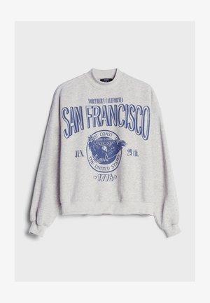 BEDRUCKTES OVERSIZE - Sweatshirts - light grey