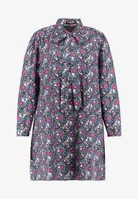 Fashion Union Plus - HIGH NECK DRESS WITH NECK TIE - Day dress - vintage meadow - 4