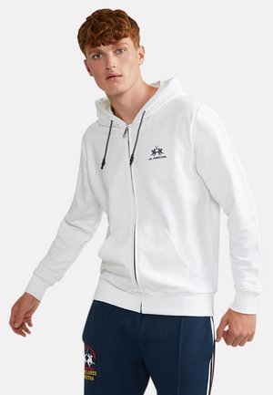 THIAGO - Zip-up sweatshirt - off white