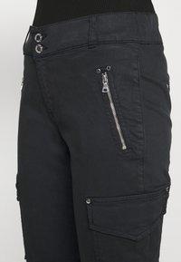 Mos Mosh - GILLES CARGO PANT - Trousers - black - 5