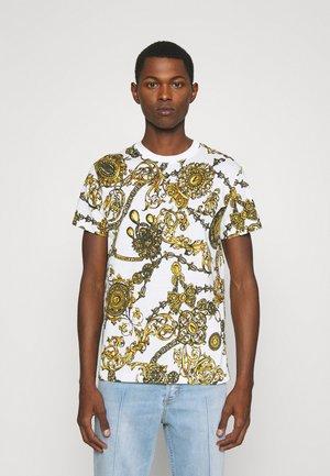 REGALIA BAROQUE - T-shirt con stampa - bianco/gold