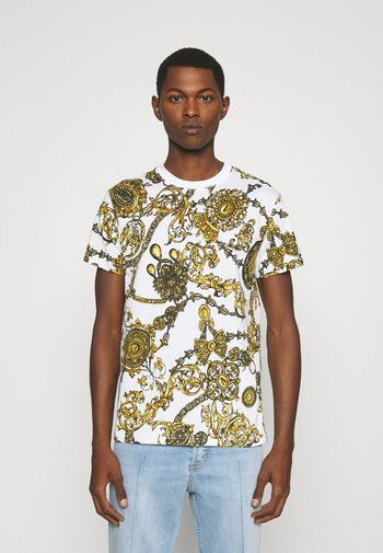 REGALIA BAROQUE - Print T-shirt - bianco/gold