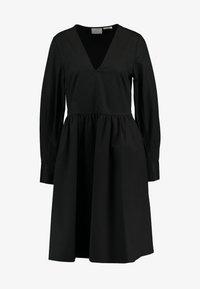 STELLA SOLID DRESS - Denní šaty - black