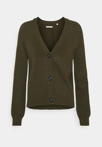 Marc O'Polo - CARDIGAN LONGSLEEVE  - Cardigan - native olive - 0