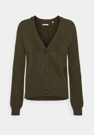 CARDIGAN LONGSLEEVE  - Cardigan - native olive