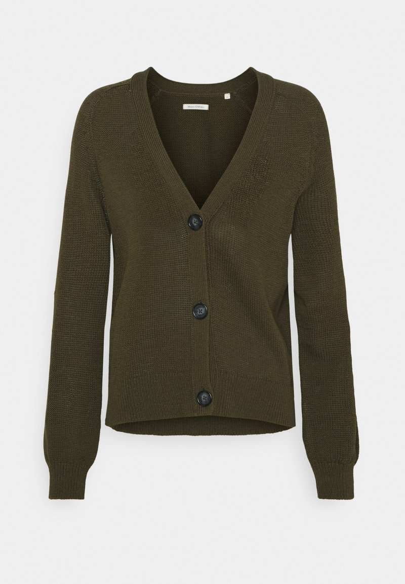 Marc O'Polo - CARDIGAN LONGSLEEVE  - Cardigan - native olive