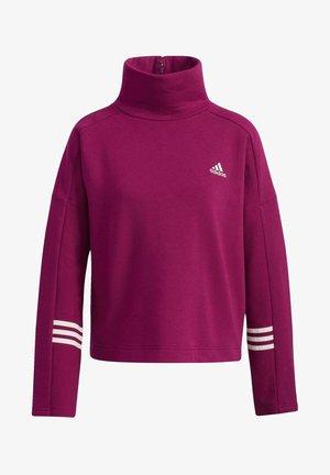 ESSENTIALS COMFORT FUNNEL NECK SWEATSHIRT - Sweatshirt - purple