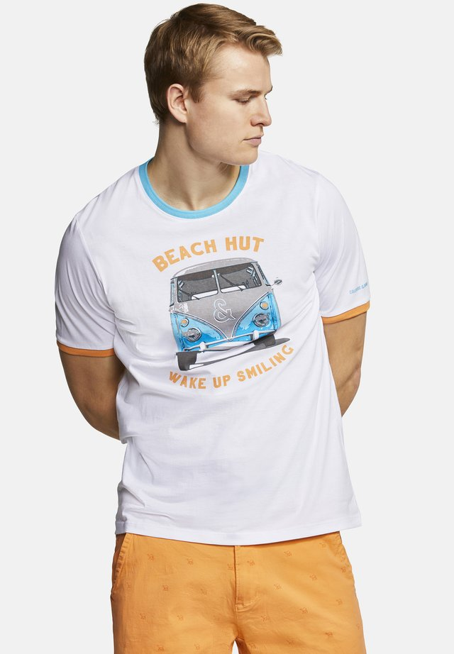 T-SHIRT BEACH HUT DUST - T-shirt print - beach hut