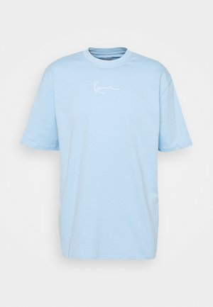 SMALL SIGNATURE TEE UNISEX - Print T-shirt - light blue