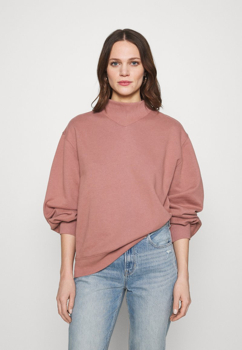 Abercrombie & Fitch - MOCK CREW - Sweatshirt - pink