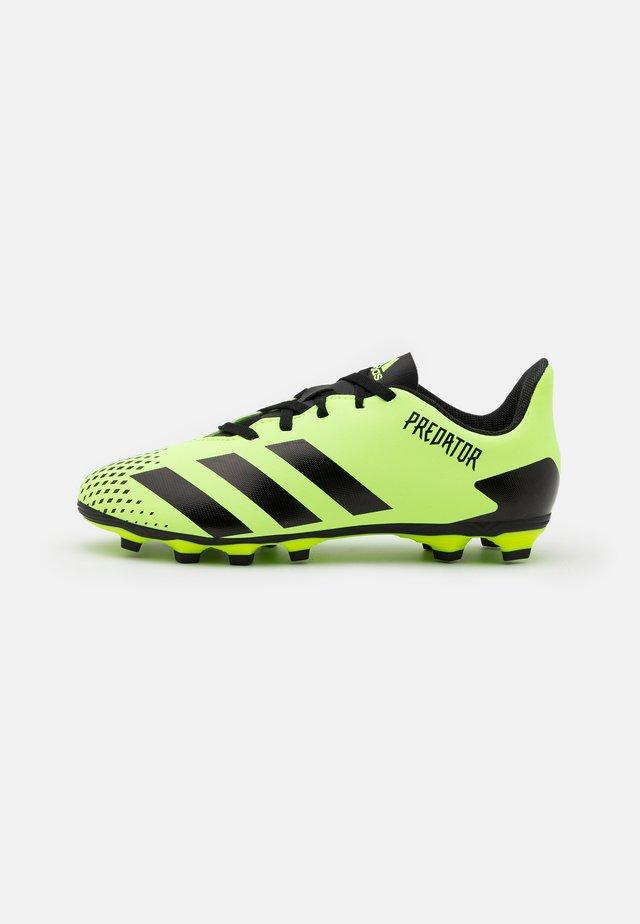 PREDATOR 20.4 FXG UNISEX - Voetbalschoenen met kunststof noppen - signal green/core black
