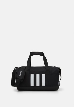 ESSENTIALS 3 STRIPES SPORTS DUFFEL BAG UNISEX - Sportväska - black/black/white
