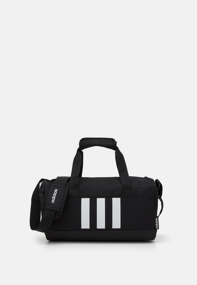 ESSENTIALS 3 STRIPES SPORTS DUFFEL BAG UNISEX - Torba sportowa - black/black/white