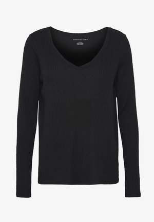 PLUSH SOLID - Long sleeved top - true black