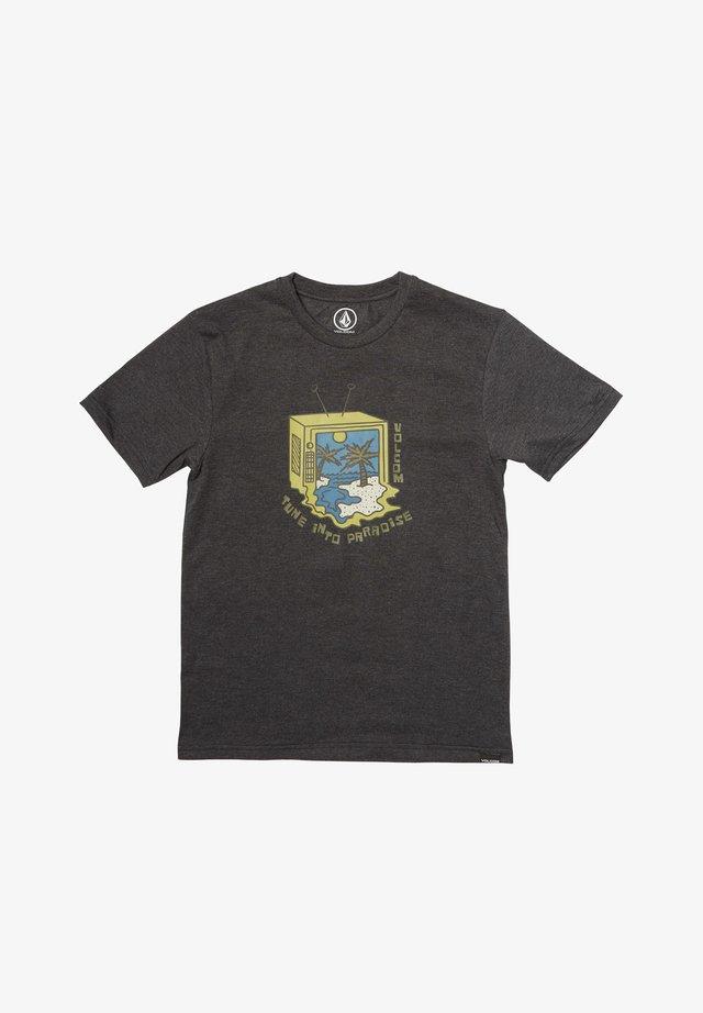 TUNE INTO - Print T-shirt - black