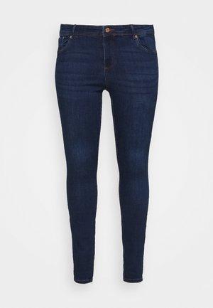 VMTANYA PIPING - Jeans Skinny Fit - dark blue denim