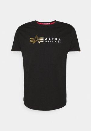 FOIL PRINT - T-shirt med print - black