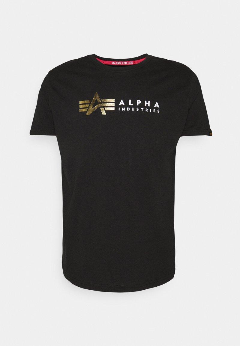 Alpha Industries - FOIL PRINT - Printtipaita - black