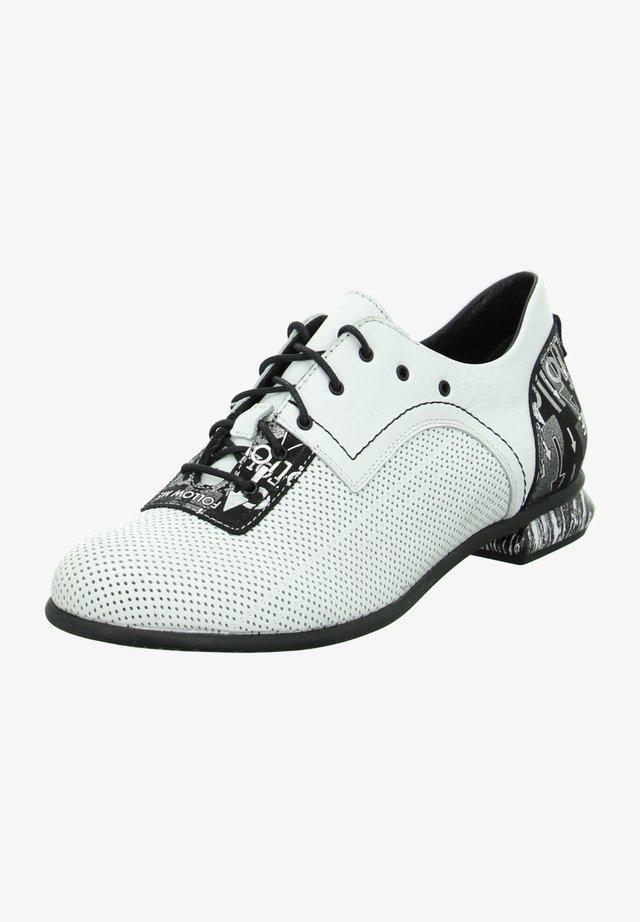 Smart lace-ups - weiß-schwarz