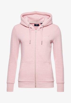 ORANGE LABEL - Zip-up hoodie - soft pink marl