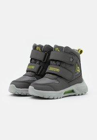 Kappa - SUPERCAL TEX UNISEX - Hiking shoes - grey/lime - 1