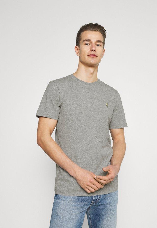 SLHJUDE O NECK TEE - T-shirt basic - grey melange