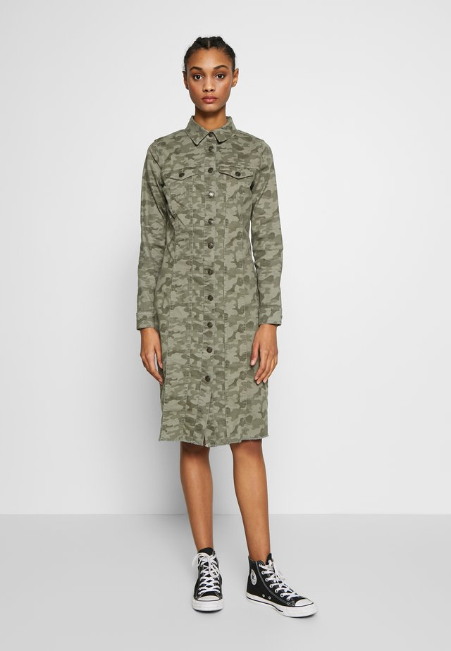 LUKKA DRESS  - Denim dress - khaki