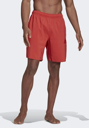 SOLID SWIM SHORTS - Swimming shorts - red