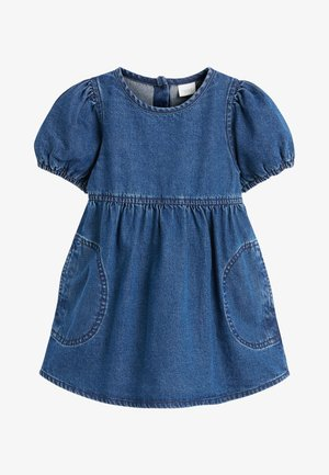 Denim dress - bleached denim