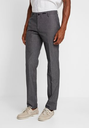 BUTTONED PIPED - Chinos - graphite grey melange