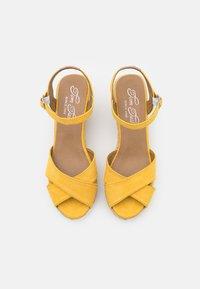 TOM TAILOR - Sandály na vysokém podpatku - yellow - 5