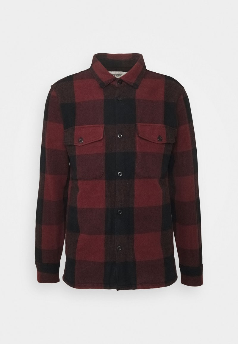 Abercrombie & Fitch - PLAID - Summer jacket - dark red