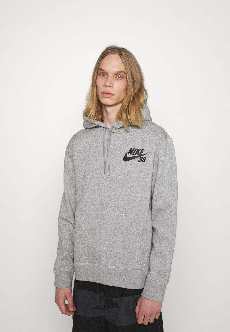 Nike SB - ICON HOODIE UNISEX - Hoodie - grey heather/black