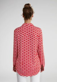 Oui - Button-down blouse - red white - 2