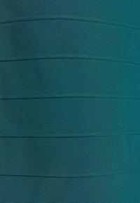 Hervé Léger - ONE SHOULDER GOWN - Shift dress - slate teal - 8