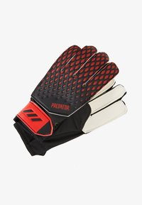 adidas Performance - PREDATOR FOOTBALL KIDS GOALKEEPER GLOVES UNISEX - Goalkeeping gloves - black/actred - 0