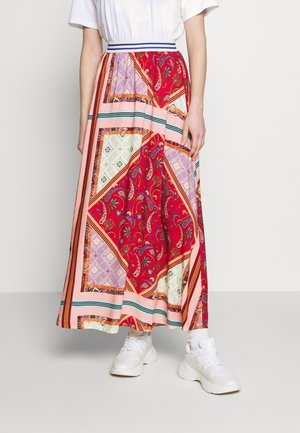 FORGET - Maxi skirt - red/pink