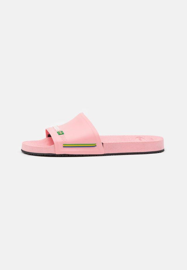 SLIDE BRASIL UNISEX - Badesandaler - macaron pink