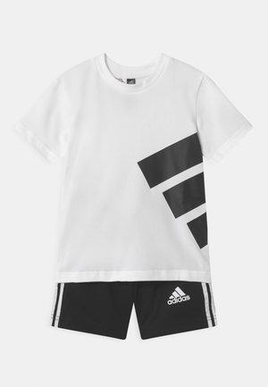 BRAND SET UNISEX - Pantalón corto de deporte - white/black