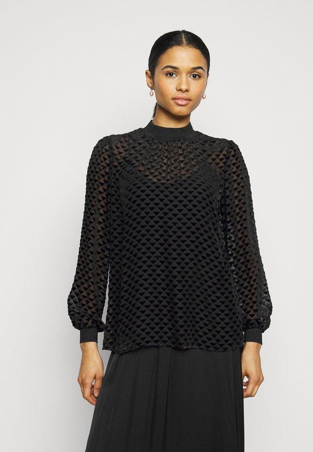 DEVORE - T-shirt à manches longues - black