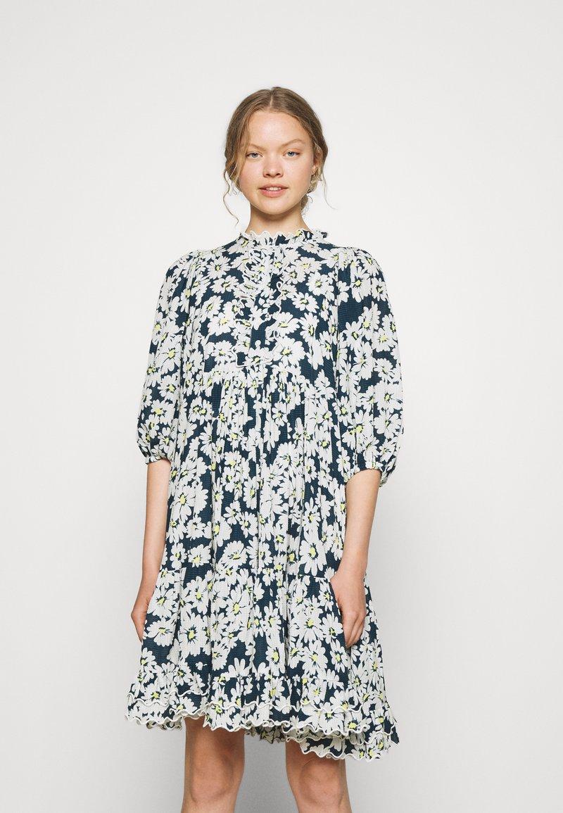 byTiMo - DOBBY MIDI DRESS - Shirt dress - blue