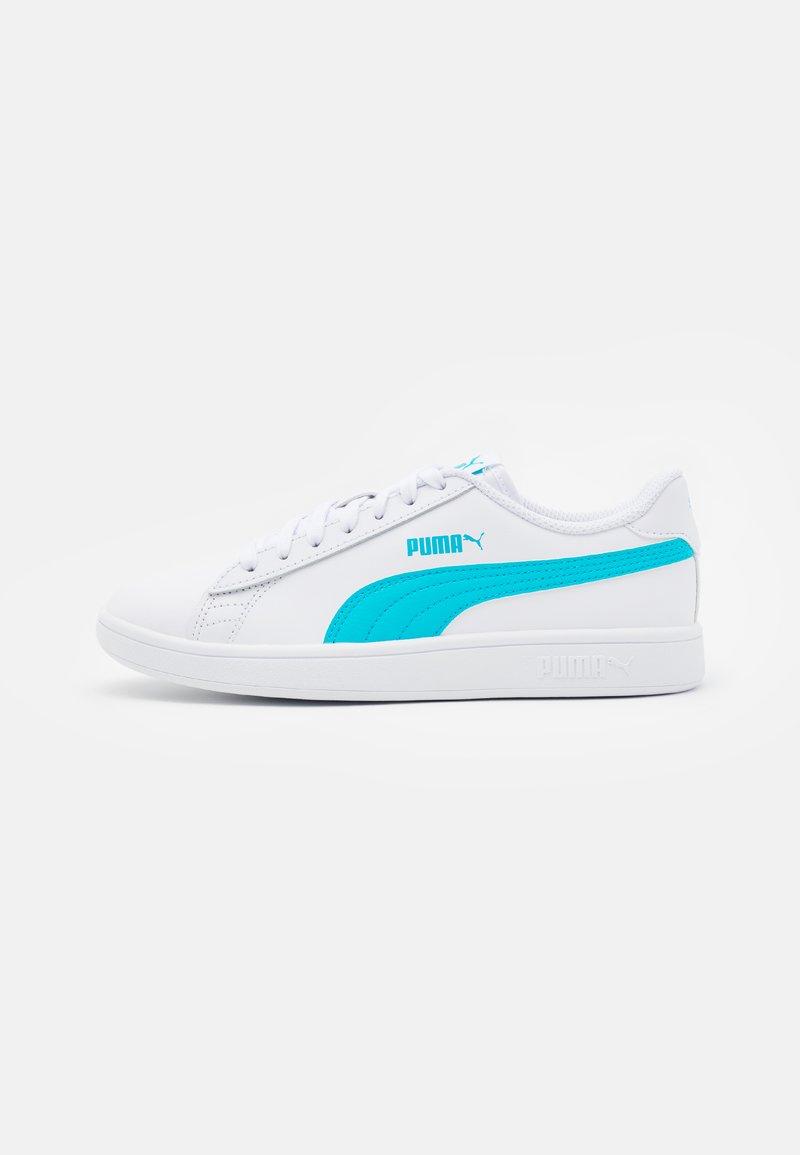 Puma - SMASH UNISEX - Sneakers laag - white/blue/gold/black