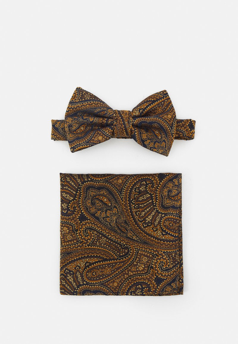 Burton Menswear London - PAISLEY BOWTIE AND HANKIE SET - Rusetti - brown