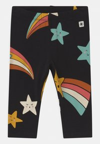 Lindex - STAR PRINT 2 PACK UNISEX - Leggings - Trousers - off black - 2