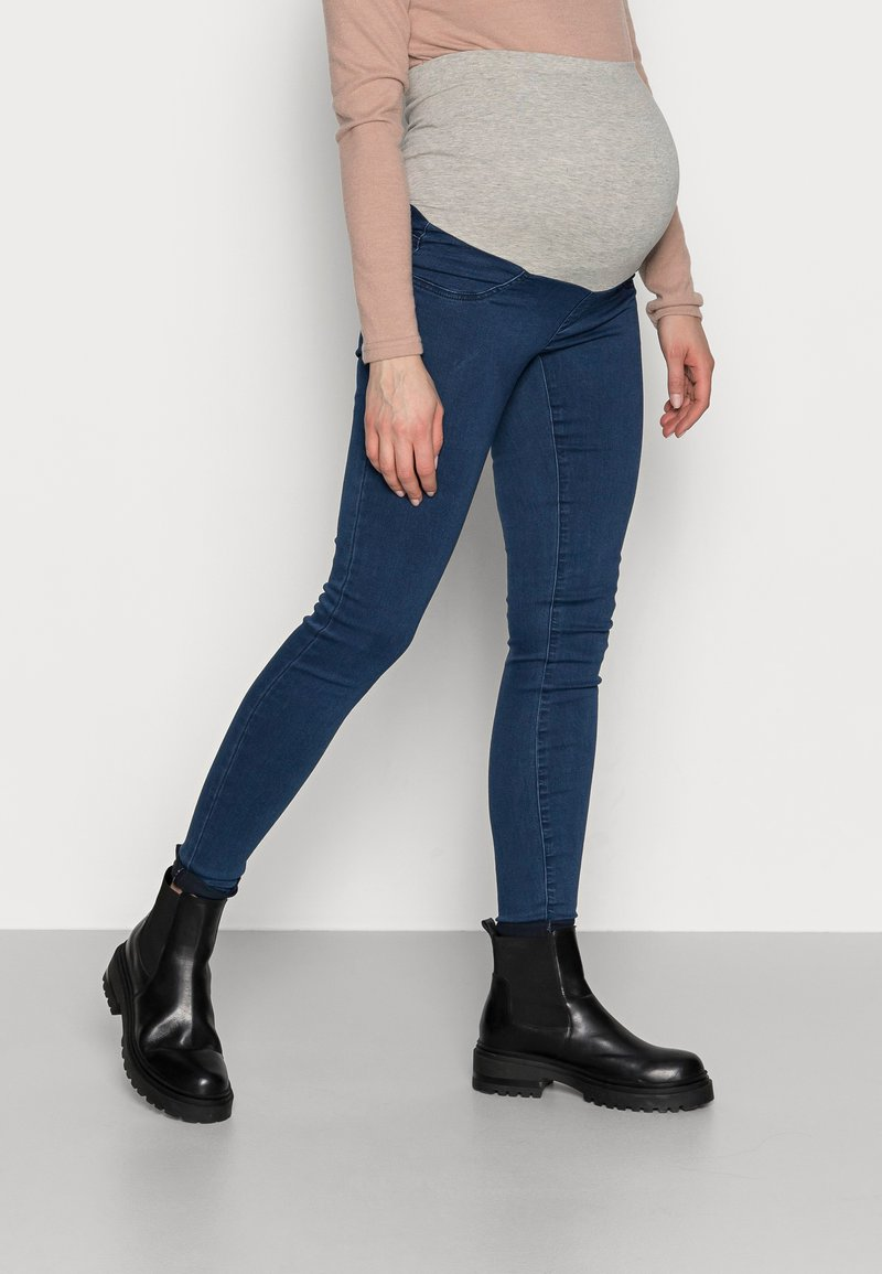 MAMALICIOUS - MLZIBO - Jeggings - dark blue denim
