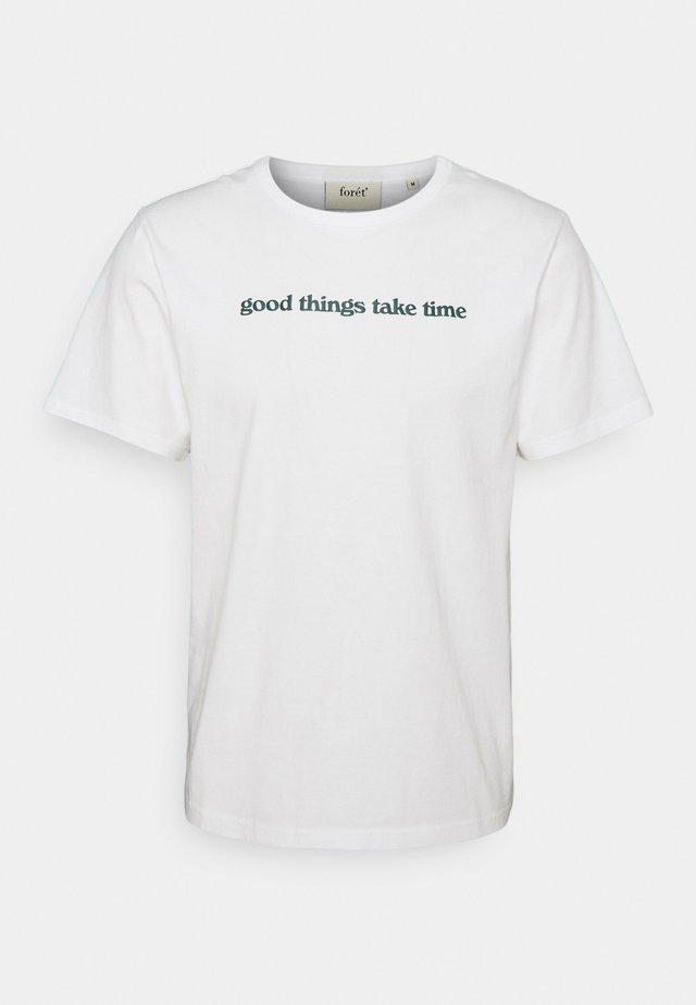 TIME DEEP FOREST - T-shirt con stampa - white
