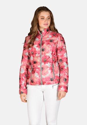 Winter jacket - pink flower