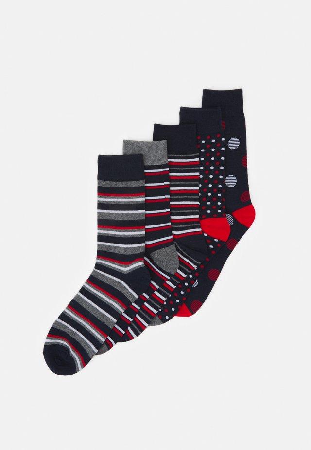 JACPORTER SOCKS 5 PACK - Socks - grey melange/nayy blazer