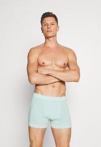 Calvin Klein Underwear - TRUNK 3 PACK - Pants - maya blue/direct green/aqua luster - 2