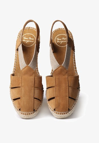 TRAPA - Wedge sandals - tan